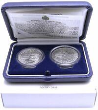San Marino 5 und 10 Euro 2004 FIFA Fussball WM Deutschland 2006 Silber Satz