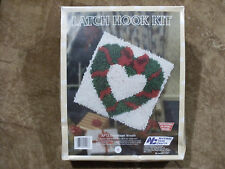 "Latch Hook Kit ""Sweetheart Wreath""  National Yarn Crafts 12""x12"" - New & Sealed"
