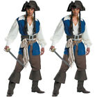 Men's Pirates Of The Caribbean Captain Halloween Sparrow Pirate Cosplay Costume