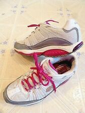 SKETCHER SHAPE UPS TONING WALKING EXERCISE SHOES WOMENS SIZE 8 ~ WHITE & PINK