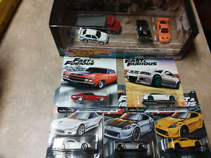Hot Wheels FAST AND FURIOUS PREMIUM DIORAMA +RED CHEVELLE+BMW M3+OTHERS VHTF!!!