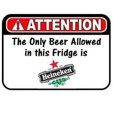 BEER IN FRIDGE HEINEKEN ONLY REFRIGERATOR LOCKER TOOL BOX MAGNET CHRISTMAS