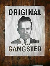 (676) GANGSTER JOHN DILLINGER ORIGINAL GANGSTER WANTED FBI NOVELTY POSTER 11x14""