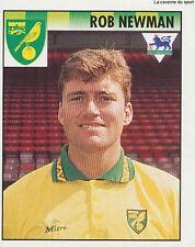 N°343 ROB NEWMAN NORWICH CITY.FC PREMIER LEAGUE 1995 STICKER MERLIN ENGLAND