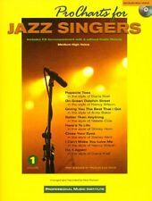 PRO CHARTS FOR JAZZ SINGERS MED-HIGH VOICE VOCAL SONG BOOK SINGING SONGBOOK