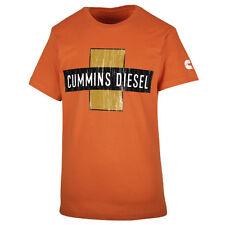 Cummins dodge short sleeve t shirt top orange vintage distressed cross truck