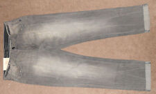 Decree Gray Destroyed Slim Straight Cuffed Denim Jeans Size 33-32 NWT