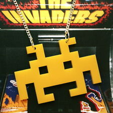 KITSCH LARGE RETRO GAME SPACE INVADER ALIEN NECKLACE
