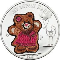 Palau 2012 Lovely Bear  5 Dollars Colour Silver Coin,Proof