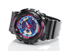 Casio Baby-G Womens Wrist Watch BA112-1A  BA-112-1ACR Black Multi Colour New