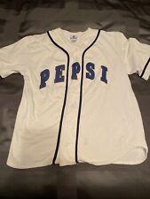 Vintage 90's Pepsi Generation Next White Spellout Varsity Baseball Jersey S/M