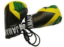 4i. Jamaica flag, Jamaican flag mini banner Boxing gloves Rear view mirror