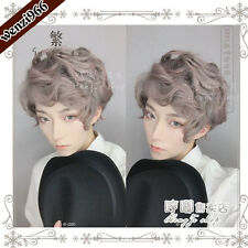 Daily Gothic Harajuku Sweet Cosplay Pink+Gray Gradient Wig Lolita Curly Hair BL