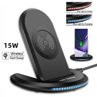 15W Qi Wireless Fast Charger Charging Stand Dock For Cell Phone/iPhone/Samsung