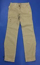 Murphy diane canvas fuego pantalone donna nuovo w28 tg 42 beige boyfriend T3485