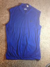Mens Performance Bike XL Blue Large Jersey Cycling Shirt Sleeveless Tank Ked