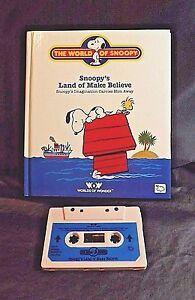 TALKING SNOOPY BOOK/TAPE SNOOPY'S LAND OF MAKE BELIEVE WKS 1986 WORLDS OF WONDER