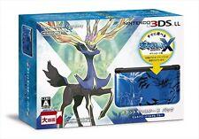 Japanese Nintendo 3DS LL Pokemon X Pack Limited Xerneas Yveltal Blue JAPAN NEW