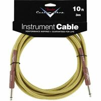 Fender Custom Shop Performance Series 10' Ft Guitar and Instrument Cable, Tweed