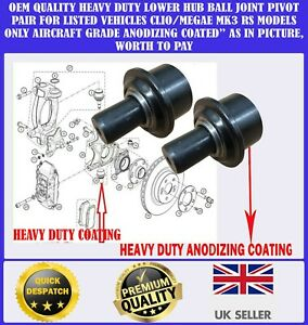 X2 FOR RENAULT CLIO 3 197 200 MEGANE 3 2.0 RS SPORT LOWER HUB BALL JOINT PIVOT