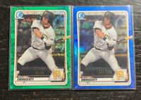 Travis Swaggerty 2020 Bowman Refractor Lot(2) Green Speckle /99 Blue/150 Pirates