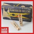 old rare vintage antique Poland Wooden 34 Cloths Clasps Clips Clasp Clip Set