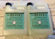 Mrs Meyer's Clean Day Hand Soap Refill Basil 33 fl oz Each (2 Pack) NEW