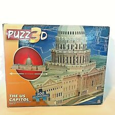 U.S. CAPITOL 3D Foam Backed Puzzle 300 Pieces 12+ New In Damaged Box MB Hasbro
