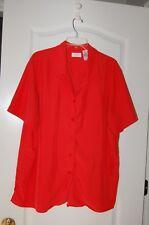 liz Claiborne 18w orange red short sleeve