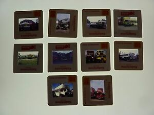 Lot of 10 35mm Colour Bus slides Buses All pictured refbr6