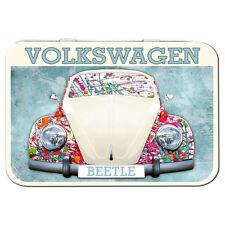 Volkswagen Beetle Splat Metal Keepsake Tin Mens Gift Storage Licensed 50460