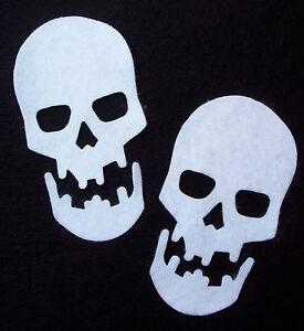 Felt SKULLS - HALLOWEEN die cuts Gothic Bunting Decorations Appliqués VARIOUS