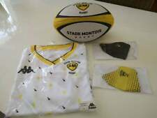 New listing LOT NEUF STADE MONTOIS RUGBY MAILLOT TAILLE L / BALLON / 2 MASQUES