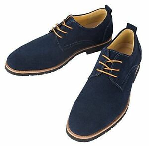 new iLoveSIA Men's Oxford Leather Suede Shoes uk size 8 US size 9
