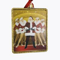Kurt Adler Rockettes Glass Rectangle Ornament Santa Christmas Spectacular
