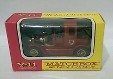 Matchbox Models Of Yesteryear Y-11 1912 Packard Landaulet F Box