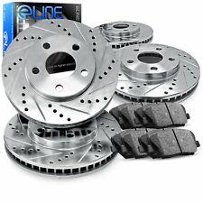 For 2005-2014 Infiniti FX35,FX45,FX37,QX70 Front Rear Brake Rotors+Ceramic Pads