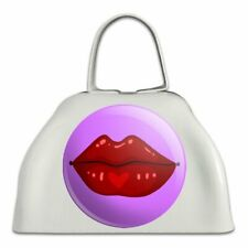 Juicy Luscious Lips White Metal Cowbell Cow Bell Instrument