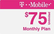 T-Mobile $75 ONE Sim Unlimited 4GLTE Plan (Mexico & Canada included)