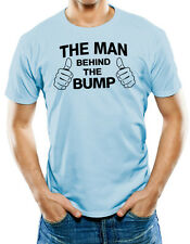 The Man Behind The Bump Dad Daddy To Be Pregnancy Baby Pregnant T Shirt T-Shirt