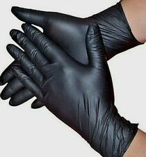 NITRILE BLACK GLOVES S-M-L-XL SIZE  10 PAIRS- 20 PIECES * shipped from Canada *