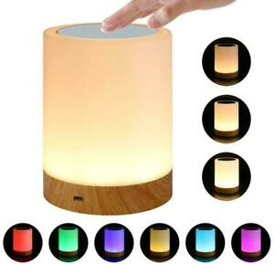 1* Rechargeable Warm White Night Lights Nightlight Touch Bedside Table Z2L6