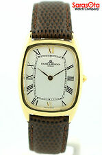 Baume&Mercier MV045096 18K Yellow Gold Swiss Leather Quartz Dress Men's Watch