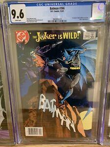 DC Comics 1983 Batman #366 CGC 9.6 NM+ WHITE Pages PERFECT Joker Newsstand New
