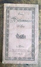 1823 PETIT DICTIONNAIRE ULTRA PAR UN ROYALISTE CONSTITUTIONNEL