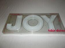 Light grey Boston Warehouse JOY letters shaped ceramic festive tidbit dishes set