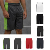 AWDis Just Cool Panel Shorts - Men longline polyester gym/performance/running