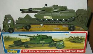 DINKY 616 AEC ARTIC TRANSPORTER + CHIEFTAIN TANK + WEBBING/MISSILES BOXED