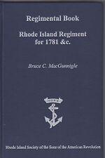 Regimental Book Rhode Island Regiment for 1781 & c MacGunnigle signed 2011