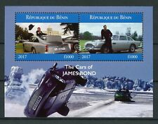 Benin 2017 MNH Cars of James Bond 007 2v M/S Film Movies Cinema Stamps